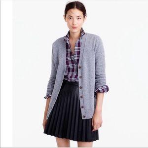 J.Crew Long Donegal Cardigan Sweater S Gray Wool